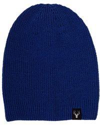 Lyst - DSquared² Deer Wool   Alpaca Knit Hat W  Pompom in Blue for Men 353015c3af33
