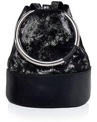 Arran Frances - Texa Black & Silver Bucket Bag - Lyst