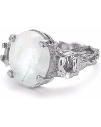 Chupi - Dew Drop In The Wild Ring Moonstone & Crystal Quartz Silver - Lyst