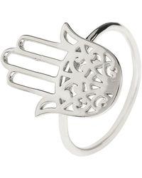 LÁTELITA London - Cosmic Hamsa Ring Silver - Lyst