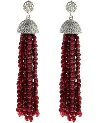 Cosanuova - Sterling Silver Red Jade Tassel Earrings - Lyst