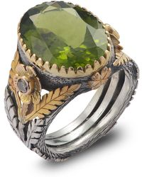 Emma Chapman Jewels - Orisha Peridot & Diamond Ring - Lyst