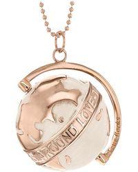 True Rocks - Medium Globe Necklace Rose Gold & Oyster Enamel - Lyst
