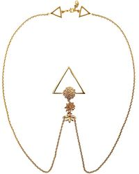 Glenda López - The Golden Flowers Clip Necklace - Lyst
