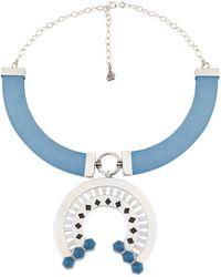 Jude Benhalim - Railway Necklace Niagra Blue - Lyst