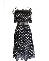 LEFON New York - Spagetti Strap Polka Dot Dress - Lyst