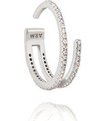 Astrid & Miyu - The Wishbone Ring In Silver - Lyst