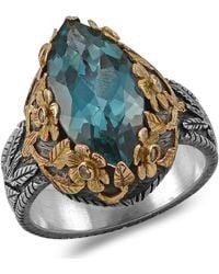 Emma Chapman Jewels - Bathsheba Blue Topaz Diamond Ring - Lyst