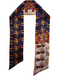 Jessica Russell Flint - Walk Like An Egyptian Silk Skinny Scarf - Lyst