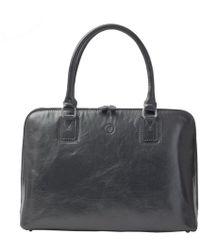 Maxwell Scott Bags - Luxury Italian Leather Women's Work Tote Bag Fiorella Night Black - Lyst