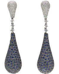 Ri Noor - Blue Sapphire & Diamond Earrings - Lyst
