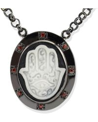 Vintouch Italy - Hand Of Fatima Cameo Necklace - Lyst