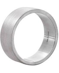 Edge Only | Flat Matt Men's Ring In Silver | Lyst