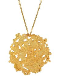 Annabelle Lucilla Jewellery - Atlas Disk Pendant Gold - Lyst