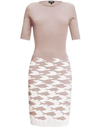 Rumour London - Sea & Sky Soft Pink Merino Wool Knitted Dress - Lyst