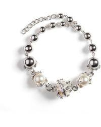Kasun - Orb & 3 Ivory Pearl Bracelet - Lyst