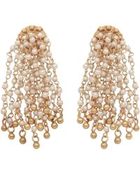 Carousel Jewels - Pearl Waterfall Earrings - Lyst
