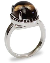 Bellus Domina - Smoky Quartz Silver Ring - Lyst