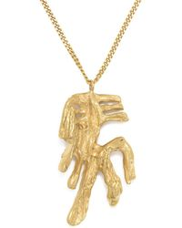 Loveness Lee - Chinese Zodiac Horse Horoscope Gold Pendant Necklace - Lyst