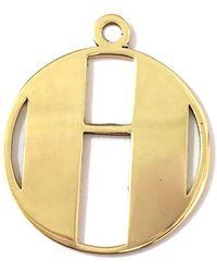 Alice Eden - Gold Deco Initial H Pendant Necklace - Lyst