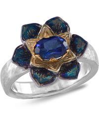 Emma Chapman Jewels - Lotus Blue Sapphire Ring - Lyst