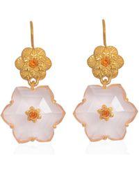 Emma Chapman Jewels - Lalitha Rose Quartz Earrings - Lyst