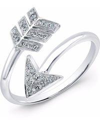Anne Sisteron - White Gold Diamond Wrap Around Arrow Ring - Lyst