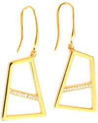 Ona Chan Jewelry - Double Drop Earring With Sapphire Gold - Lyst