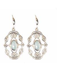 Neola - Norresa Sterling Silver Earrings Aqua Chalcedony - Lyst