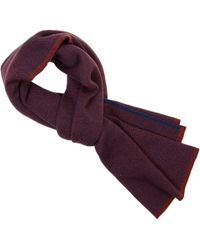 40 Colori - Burgundy Three Designs Wool Scarf - Lyst