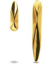 KIMSU - Mismatch Earrings In Gold - Lyst