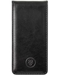 Maxwell Scott Bags - Luxury Iphone 5/5s Black Leather Flip Case For Cell Phone Renato - Lyst
