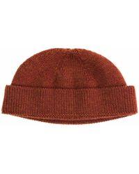 40 Colori - Rust Solid Wool Fisherman Beanie - Lyst