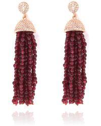 Cosanuova | Sterling Silver Red Jade Tassel Earrings | Lyst