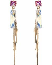 Nadia Minkoff - Baguette Cluster Earring Gold - Lyst