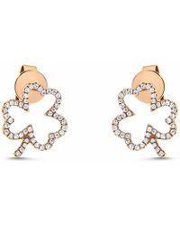 Cosanuova | Circle Diamond Studs 14k White Gold | Lyst