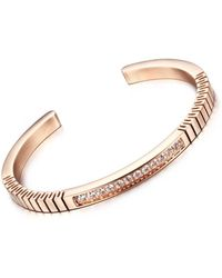Opes Robur - Rose Gold Roman Open End Cuff Bracelet - Lyst