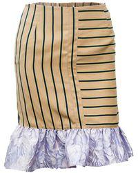 Vivienne Hu - Pinstripe Bubble Skirt With Ruffle Detail - Lyst