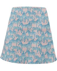 My Pair Of Jeans - Zebra Flared Mini Skirt - Lyst