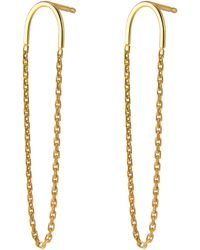 Irena Chmura Jewellery - Arc & Chain Earrings - Lyst