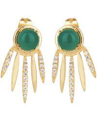 Carousel Jewels - Green Onyx Dreamcatcher Earrings - Lyst