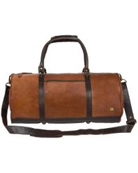 c3131c9338a7 MAHI - Overnight gym Bag In Vintage Brown With Mahogany Detail - Lyst