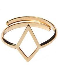 Dutch Basics - Ruit Adjustable Knuckle Ring Gold - Lyst