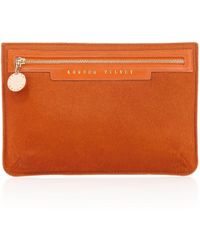 London Velvet - Siena Orange Zipper - Lyst