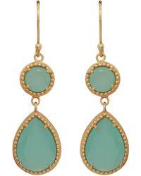 Carousel Jewels - Chalcedony Small Double Drop Earrings - Lyst