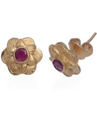 Emma Chapman Jewels - Gypsy Rose Pink Tourmaline Stud Earrings - Lyst