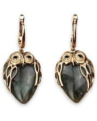 Bellus Domina - Owl Earrings - Lyst