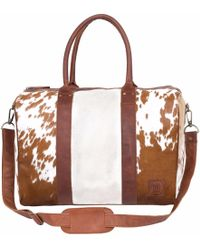 MAHI - Leather Cortes Overnight Weekender In Animal Print - Lyst