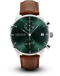 About Vintage - 1815 Chronograph Steel Green Sunray - Lyst
