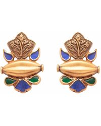 Carousel Jewels - Blue & Green Dyed Crystal Studs - Lyst
